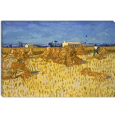 """Corn Harvest in Provence"" Canvas Wall Art by Vincent van Gogh"