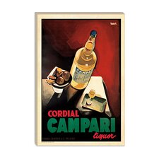 <strong>iCanvasArt</strong> Cordial Campari Advertising Vintage Poster
