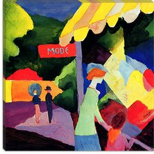 "<strong>iCanvasArt</strong> ""Fashion Window"" Canvas Wall Art by August Macke"