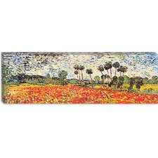"""Field of Poppies"" Panoramic Canvas Wall Art by Vincent van Gogh"