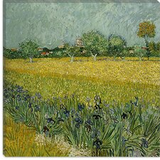 """Field with Flowers Near Arles"" Canvas Wall Art by Vincent van Gogh"
