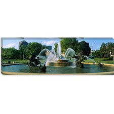 Fountain in a Garden, J C Nichols Memorial Fountain, Kansas City, Missouri Canvas Wall Art