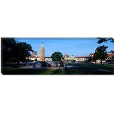 Fountain in a City, Country Club Plaza, Kansas City, Jackson County, Missouri Canvas Wall Art