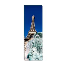 <strong>iCanvasArt</strong> Fountain Eiffel Tower Las Vegas Nevada Canvas Wall Art