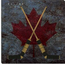 <strong>iCanvasArt</strong> Hockey Sticks #4 Canvas Wall Art