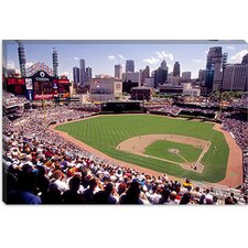 <strong>iCanvasArt</strong> Home of the Detroit Tigers Baseball Team, Comerica Park, Detroit, Michigan Canvas Wall Art