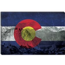 <strong>iCanvasArt</strong> Colorago Flag, Pikes Peak Canvas Wall Art