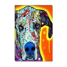 "<strong>iCanvasArt</strong> ""Great Dane"" Canvas Wall Art by Dean Russo"