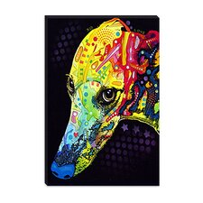 "<strong>iCanvasArt</strong> ""Greyhound"" Canvas Wall Art by Dean Russo"