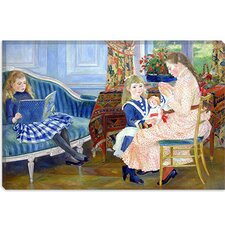 """Der Nachmittag der Kinder in Wargemont"" Canvas Wall Art by Pierre-Auguste Renoir"