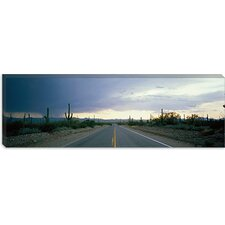 <strong>iCanvasArt</strong> Desert Road Near Tucson, Arizona Canvas Wall Art