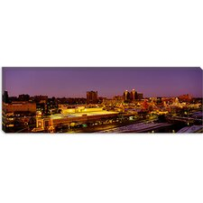 Buildings Lit Up at Dusk, Kansas City, Missouri Canvas Wall Art