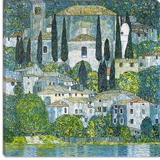 "<strong>iCanvasArt</strong> ""Kirche in Cassone (Chruch in Cassone)"" Canvas Wall Art by Gustav Klimt"