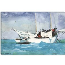 "<strong>iCanvasArt</strong> ""Key West, Hauling Anchor 1903"" Canvas Wall Art by Winslow Homer"