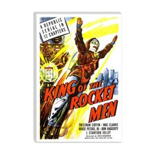 <strong>iCanvasArt</strong> King of the Rocket Men Vintage Movie Poster