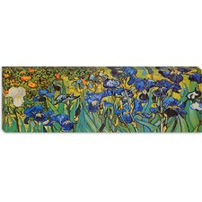 """Irises"" Panoramic Canvas Wall Art by Vincent Van Gogh"