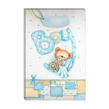 <strong>iCanvasArt</strong> It's a Boy (Teddy Bear) Canvas Wall Art