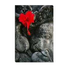 Ganesh Holy Hindu God Statue Canvas Wall Art