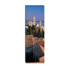 <strong>iCanvasArt</strong> High Angle View of a Town, Rab Island, Croatia Canvas Wall Art