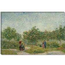 "<strong>iCanvasArt</strong> ""Garden in Montmarte with Lovers"" Canvas Wall Art by Vincent van Gogh"