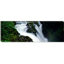 <strong>iCanvasArt</strong> Sol Duc Falls, Olympic National Park, Washington State Canvas Wall Art