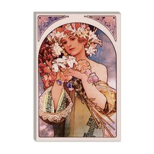 """Flower"" Canvas Wall Art by Alphonse Mucha"
