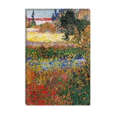 "<strong>iCanvasArt</strong> ""Flowering Garden"" Canvas Wall Art by Vincent van Gogh"