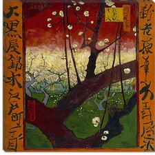 "<strong>iCanvasArt</strong> ""Flowering Plum Tree (After Hiroshige)"" Canvas Wall Art by Vincent van Gogh"