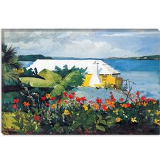 """Flower Garden and Bungalow, Bermuda 1899"" Canvas Wall Art by Winslow Homer"