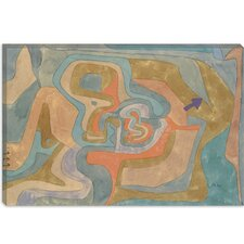 """Flying Away (Entfliegen) 1934"" Canvas Wall Art by Paul Klee"