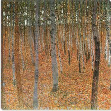 "<strong>iCanvasArt</strong> ""Forest of Beech Trees"" Canvas Wall Art by Gustav Klimt"