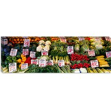 Close-up of Pike Place Market, Seattle, Washington State Canvas Wall Art