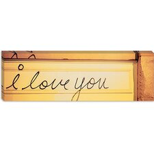 Close-up of I Love You Written on a Wall Canvas Wall Art