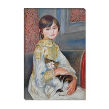 """Julie Manet with Cat 1887"" Canvas Wall Art by Auguste Renoir Aka Pierre-Auguste Renoir"
