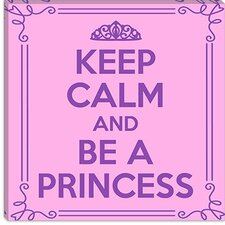 <strong>iCanvasArt</strong> Keep Calm and Be a Princess Canvas Wall Art