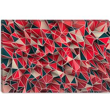Maximilian San Kaos Graphic Art on Canvas in Red