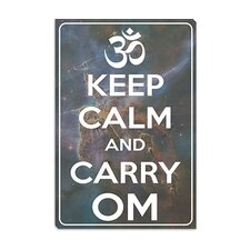 <strong>iCanvasArt</strong> Keep Calm and Carry Om Canvas Wall Art