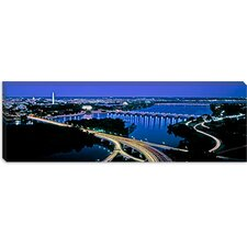 <strong>iCanvasArt</strong> High Angle View of a City, Washington DC Canvas Wall Art