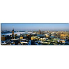 <strong>iCanvasArt</strong> High Angle View of a City, Stockholm, Sweden Canvas Wall Art
