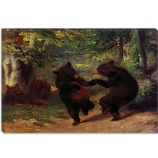 <strong>iCanvasArt</strong> Dancing Bears Canvas Wall Art