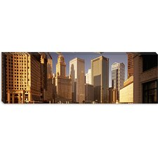 <strong>iCanvasArt</strong> Cityscape Chicago Illinois Canvas Wall Art