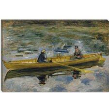 """Claude Monet Et Mme Henriot 1880"" Canvas Wall Art by Auguste Renoir aka Pierre-Auguste Renoir"