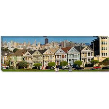 <strong>iCanvasArt</strong> Famous row of Victorian Houses called Painted Ladies, San Francisco, California Canvas Wall Art
