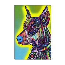 "<strong>iCanvasArt</strong> ""Doberman"" Canvas Wall Art by Dean Russo"