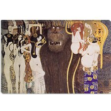 """Die Feindlichen Gewalten (The Hostile Forces)"" Canvas Wall Art by Gustav Klimt"