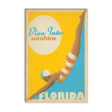 <strong>iCanvasArt</strong> Dive into Sunshine - Florida Canvas Wall Art