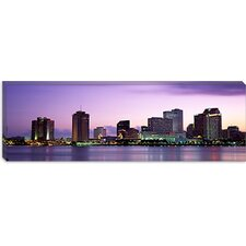 <strong>iCanvasArt</strong> Dusk Skyline, New Orleans, Louisiana Canvas Wall Art