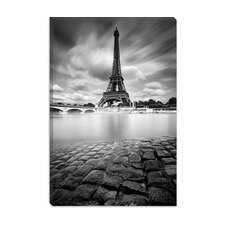 <strong>iCanvasArt</strong> Eiffel Tower Study I Canvas Wall Art by Moises Levy