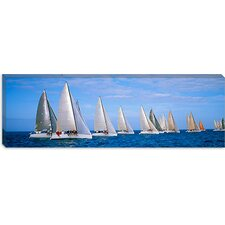 <strong>iCanvasArt</strong> Yachts in the Ocean, Key West, Florida Canvas Wall Art