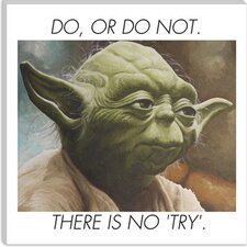 <strong>iCanvasArt</strong> Yoda Quote Canvas Wall Art